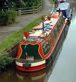 Painted canal boat